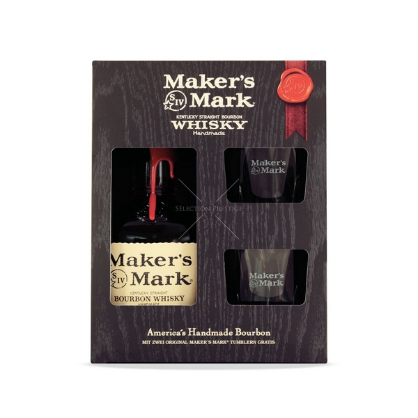 Makers Mark whisky + 2 pohár dd 45% 0,7L